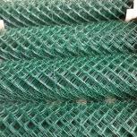 Сетка рабица в ПНД покрытии 25х25х2,5мм (1,5х10м), Ярославль