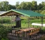 Беседка металлическая садовая на 8 мест разборная, Ярославль